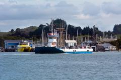 Opua - russell ferry at the  bay of islands new zealand Stock Photos