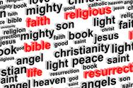 Stock Illustration of Religion Word Cloud