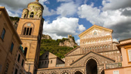 Stock Video Footage of Timelapse of the Amalfi Duomo, Cathedral of Amalfi, Italy
