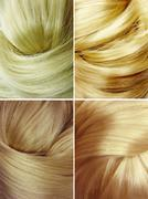 blond hair texture background - stock illustration