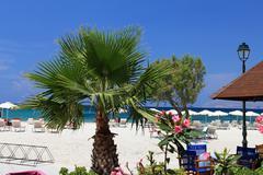 Mastichari beach on kos island, dodecanese. Stock Photos