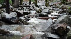 Mountain Stream Flowing Through Rocks 2 Stock Footage