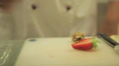 Dessert Garnishing Stock Footage