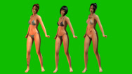Stock Video Footage of Hot sexy Girls dancing in Bikini - separated on green screen