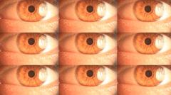 Eyes Twitche Nervously - stock footage