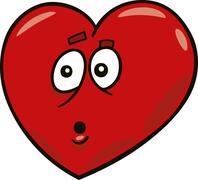 Startled heart Stock Illustration