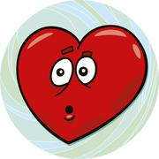 Stock Illustration of startled heart