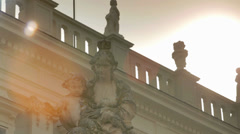 Bridge with Statue Stock Footage