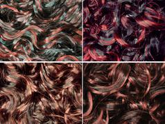 Stock Illustration of curly black highlight hair texture background