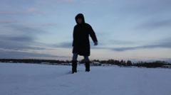 Winter walk in Finland - stock footage