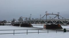 Winter in Finland - Pori - stock footage
