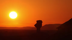 White Desert sunset, Egypt, timelapse - stock footage