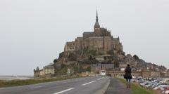 Le Mont-Saint-Michel Stock Footage