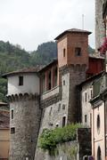 Castelnuovo di garfagnana - ariosto's castle. Stock Photos