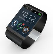 modern smartwatch - stock illustration
