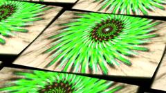 Offset tiled kaleidoscope Stock Footage