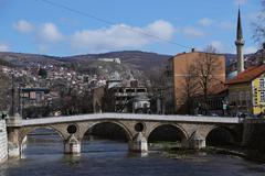 Sarajevo Latin Bridge Stock Photos