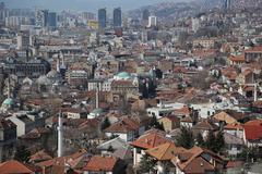 Sarajevo panorama Stock Photos