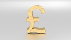 Fall of British Pound. Stock Footage
