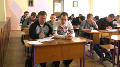 Students in Classroom Stock Footage
