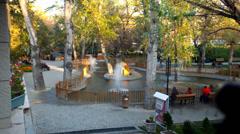 Timelapse park in Ankara Stock Footage