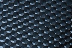 blue honeycomb grid; macro shot; shallow DOF - stock photo
