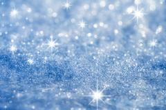 blue star and glitter sparkles  background - stock photo