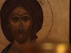 prayer lighting candle jesus christ easter resurrection icon macro - stock footage