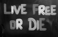 live free or die concept - stock illustration