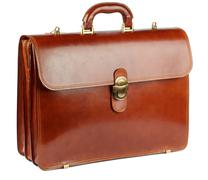 ginger briefcase - stock photo
