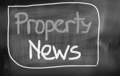 property news concept - stock illustration