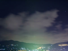 Bad weather over the village at night. 4x3 Stock Footage