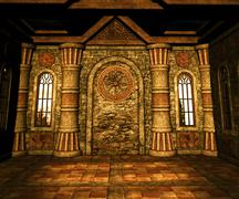Castle room backdrop Stock Illustration