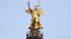 Berliner Siegessäule timelapse Stock Footage