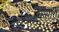 Jewelry and precious for sale by antique jeweler Stock Photos