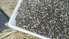 Chia seeds (loopable) Stock Footage