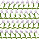 Stock Illustration of elegant seamless pattern with decorative soft violet tulips, design element