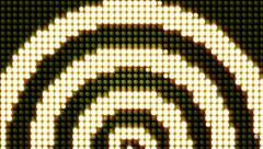 Half circles Glowlights Stock Footage