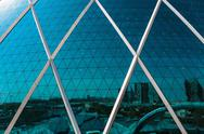 Stock Photo of the aldar headquarters building is the first circular building of its kind in