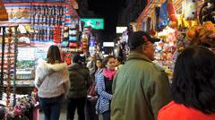 Handheld Hong Kong downtown Mong Kok Ladies' street consumers shopping China Stock Footage