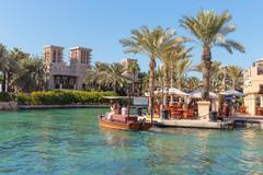 Dubai, uae - november 7: views of madinat jumeirah hotel, on november 7, 2013 Stock Photos