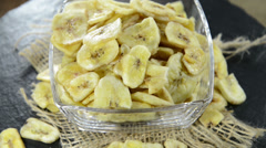Portion of dried banans (not loopable) Stock Footage