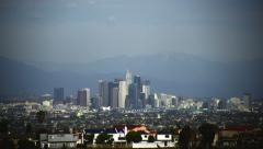 Stock Video Footage of 4K Los Angeles Timelapse 20 Downtown Cloudscape