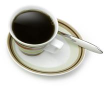 Coffee cup with clipping path Stock Photos