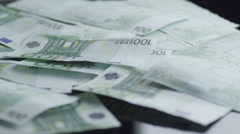 Money being Blown Away Stock Footage