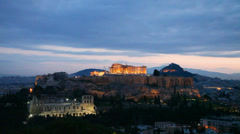 Acropolis in Athens, Greece on a sunny day - stock footage