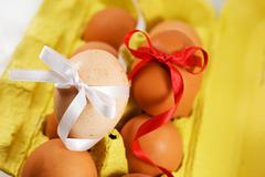 Eggs and spring - stock photo
