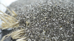 Chia seeds (not loopable) Stock Footage