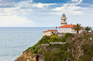 Stock Photo of lighthouse of cudillero, asturias, northern spain