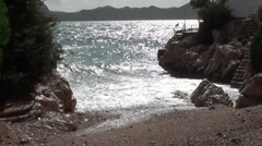 Small natural cove zoom in Stock Footage